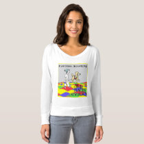 Women's flowy off the shoulder shirt, Service dog T-shirt