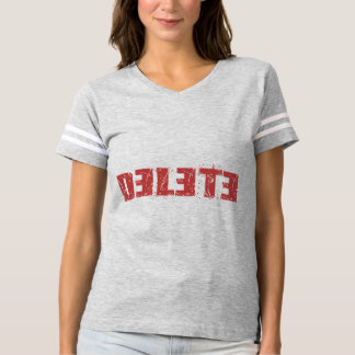 Womens Football T-shirt with Cool Delete Sign