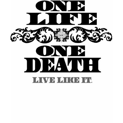 "Women's ""one Life, One Death"" T-shirt from Fire Star."