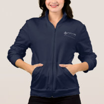 Women's Full Zip Fleece Jogger - Navy Jacket