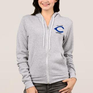 Womens Full Zip hoodie Carlsbad Cavegirls
