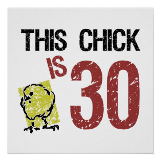 Women's Funny 30th Birthday Poster