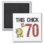 Women's Funny 70th Birthday 2 Inch Square Magnet