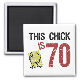 Women's Funny 70th Birthday Magnet
