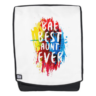 Womens Funny BAE  Best Auntie Ever Mom Mothers Backpack