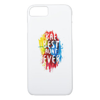 Womens Funny BAE  Best Auntie Ever Mom Mothers iPhone 8/7 Case