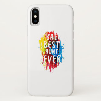 Womens Funny BAE  Best Auntie Ever Mom Mothers iPhone X Case