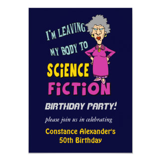 Womens Funny Birthday Party Invitations