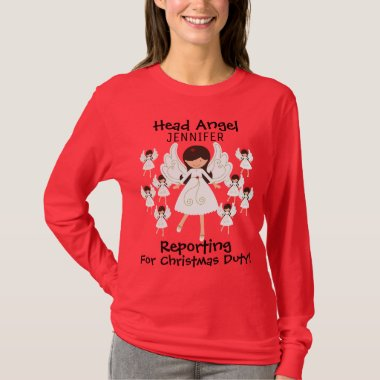 Women's Funny Christmas T-Shirt: Add Your Name T-Shirt