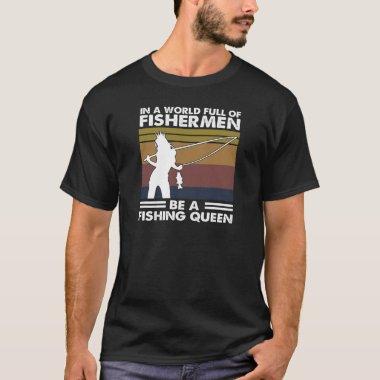 Womens Funny Fishing S For Women Fishing Women Fis T-Shirt