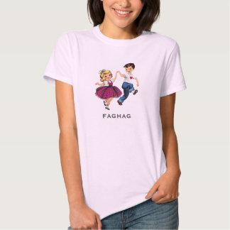 Women's Funny Retro Fag Hag Shirt