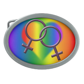 Women's Gay Pride Belt Buckle Rainbow Love Gifts