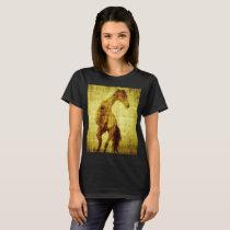 Womens/Girls Horse  T shirt Full of sprirt
