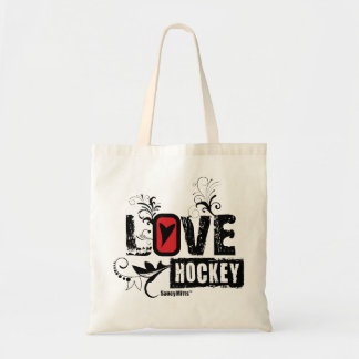 Women's Girls Love Hockey Swirl Tote Bag