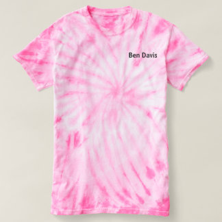 Women's/girls pink tie die shirt