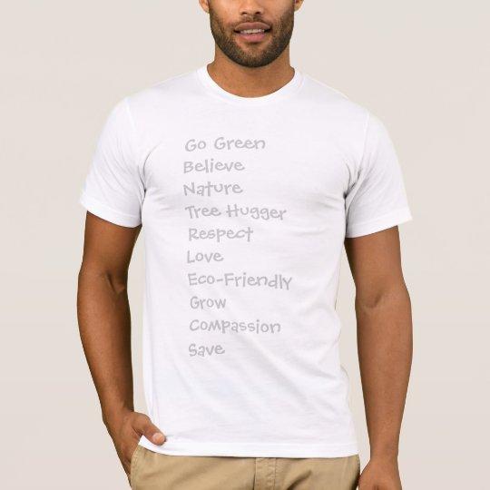 Women's Go Green Text T-Shirt