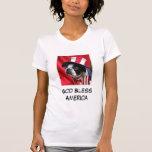 Women's God Bless America Boston Terrier T-Shirt