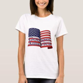 """Women's """"Godless America"""" flag shirt"""