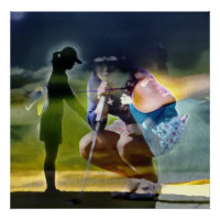 Women's Golf - Art On Canvas Print