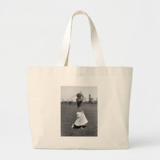 Women's Golf Fashion, 1910s Large Tote Bag