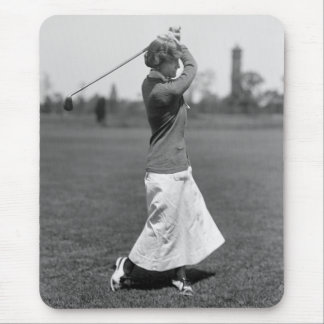 Women's Golf Fashion, 1910s Mouse Pad