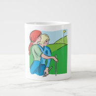 Womens Golf Jumbo Mug
