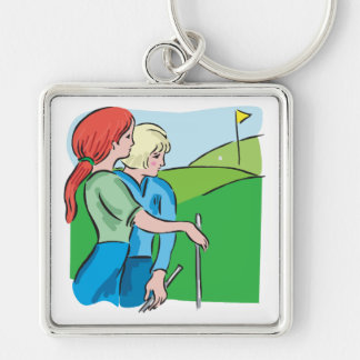 Womens Golf Keychain