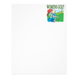 Womens Golf Letterhead