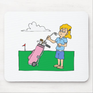 Womens Golf Mouse Pad