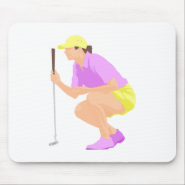 Womens Golf Mouse Pads
