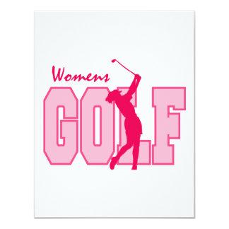Women's Golf Pink Card