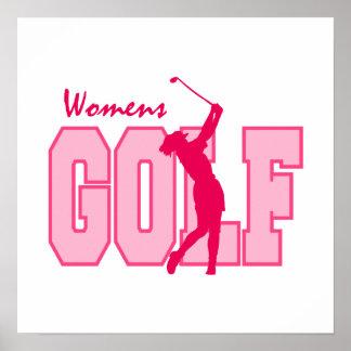 Women's Golf Pink Poster
