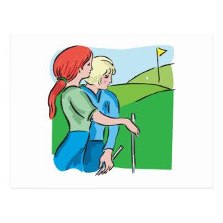 Womens Golf Postcard