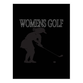 Womens Golf Postcard