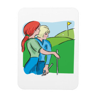 Womens Golf Flexible Magnets