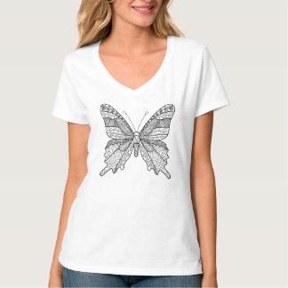Women's gorgeous butterfly t-shirt lineart