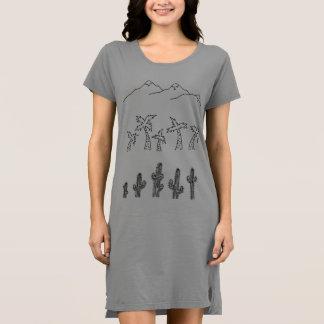 Women's Green Landscape T-Shirt Dress