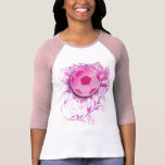 Women's Grunge Floral Soccer Fitted Shirt