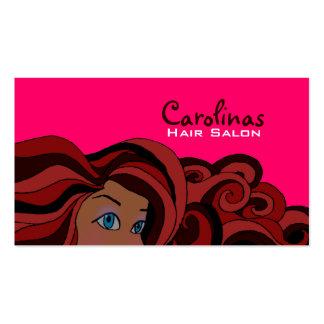 Women's Hair Business Cards