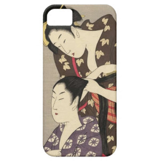 Womens Hairdressing Utamaro Yuyudo Ukiyo-e Art iPhone SE/5/5s Case