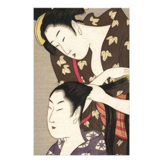 Womens Hairdressing Utamaro Yuyudo Ukiyo-e Art Stationery