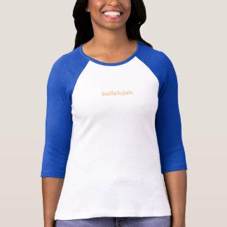 Women's hallelujah 3/4 sleeve T-shirt