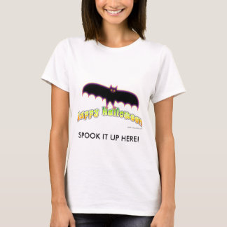 Womens Halloween Tees - Bats 4 Halloween Art