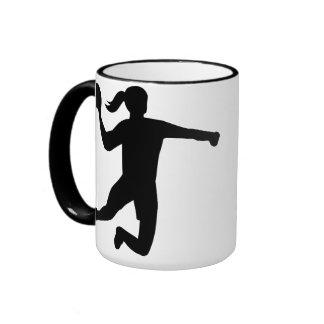Womens handball ringer mug