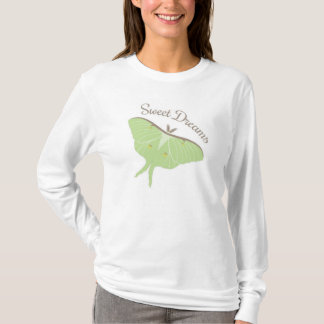 Women's  Hanes Nano Long Sleeve T-Shirt, White T-Shirt