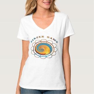 Women's Hanes Nano V-Neck T-Shirt-Circle Game T-Shirt
