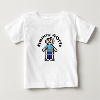 "Womens ""Happy 40th"" Baby T-Shirt"