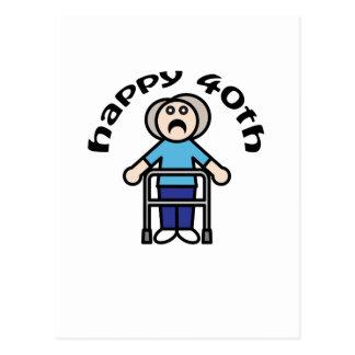 "Womens ""Happy 40th"" Postcard"