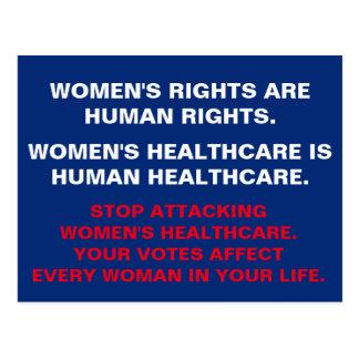 Women's Health Care is Human HealthCare Postcard