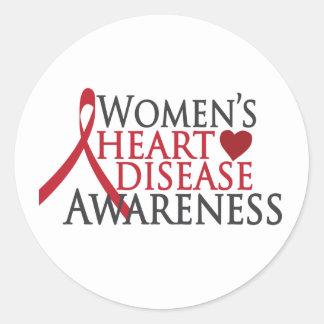Women's Heart Disease Awareness Classic Round Sticker